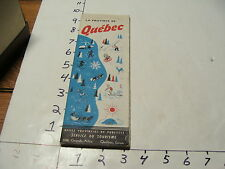 vintag travel paper--La Province De QUEBEC tourist map, 1950 first edtion