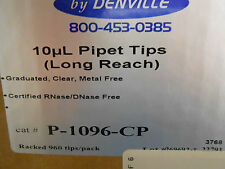 DENVILLE 10µL PIPET TIPS(LONG REACH), CAT # P-1096-CP