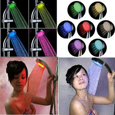 Fashion LED Bathroom Shower Head Light Up Multicolor Changing Disco Water Power