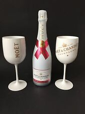 "MOËT CHANDON Ice Imperial ""rose"" Champagne 0,75l 12% vol + 2 Ice Acrylique verres"