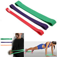 3 Resistance Tube Band Home Gym Fitness Exercise Workout Heavy Yoga Train Belt
