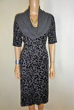 KALEIDOSCOPE NEW &TAGS  GREY &BLACK MIX COWL NECK KNITTED DRESS SIZE 12-  14