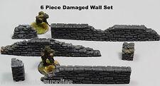 WWS Damaged Stone Wall And Pillars Set Wargaming Warlord Warhammer R10