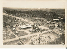 WWII  1943 aerial view of  damage at Bamban, Luzon US Army 40th Inf  photo