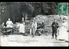 FORET de BERCE (72) CAFE MARY-LECOMTE / SOURCE de l'HERMITIERE animée en 1912
