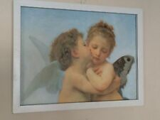 First Kiss William-Adolphe Bouguereau - 12''x16'' Poster incorniciato Cherubini
