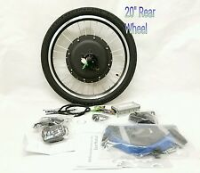 "48V 1000W ELECTRIC BIKE REAR 20"" WHEEL CONVERSION KIT  880 LED no battery"