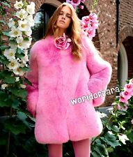 Brand New Customized Pink Faux Fur Jacket Coat Sz XS/S Designer Inspired