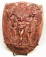 Pagan Wiccan Tripple Goddess Maiden Mother Crone Shield Wall Plaque