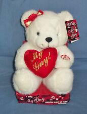 "9"" Plush Stuffed Animal Singing Lighted Toy Teddy Bear My Girl Valentines Day"