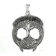 Sterling Silver Tree of Life Celtic Knot Pendant Knotwork Jewelry Yggdrasil