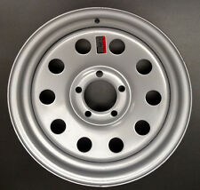 "15x5"" TRAILER WHEEL 10 HOLE TRAILER WHEEL SILVER 5 ON 4 1/2 4.5 LUG"