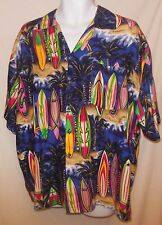 Hawaiian Shirt Aloha Surfboards by Basix Size XL