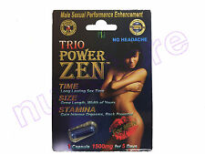 POWER ZEN TRIO MALE SEXUAL PERFORMANCE ENHANCEMENT LIBIDO SEX PILL NIGHT GROW