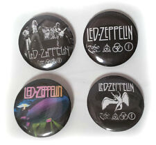 Lot of 4 - Led Zeppelin - 1.25in Pins Buttons Badges