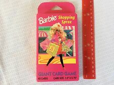 Vintage Barbie Collectible Shopping Spree Giant Card Game - 1991 Golden 4888 NEW