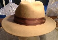 Dobbs Fedora STEVE HARVEY COLLECTION - Size 7 5/8 Khaki IN EXCELLENT COLLECTION