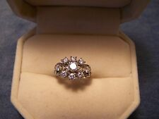 Birks Ring18K Ladies White Gold Diamond Cluster Cocktail Size 4 Weight 2.8 Grams