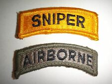 Set Of US Army SNIPER + AIRBORNE Tab Patches