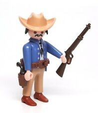 Playmobil Figure Western Cowboy Stagecoach Passenger w/ Tan Hat Rifle Gun 3803