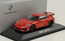2017 Porsche 911 991 GT3 Präsentation Genf rot 1:43 Minichamps Diecast WAP