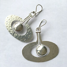 Tapio Wirkkala RARE vintage Finland sterling silver BIG earrings Apple 1975