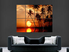 TROPICAL SUNSET POSTER WOW BEAUTIFUL GIANT IMAGE ART LARGE WALL PRINT
