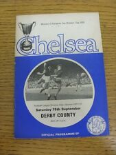 18/09/1971 Chelsea v Derby County  (Light Crease, Faint Marks). Condition: We as