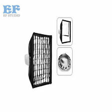 Photo Studio Honeycomb Grid Softbox 20x90cm with Bowens Mount for Strobe