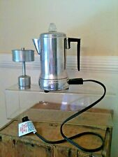 Vintage Empire Electric Coffee Pot w/Cord Model 63-T 1-2 Cup! Works! Darling!