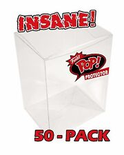 "50-PACK FUNKO POP! BOX PROTECTOR BOXES for 4"" VINYL FIGURES CRYSTAL CLEAR CASES"