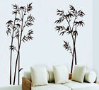 Bamboo Black Single Color Leaves Tree Branch Removable Wall Decor Decal Sticker