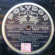 """12"""" SCHEIDL THEODOR Opera 78rpm German Polydor 66937 Svanda Dudak-Ich bin der"""