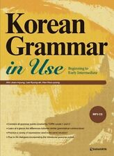 Korean Grammar in Use Beginning with MP3 CD Early Intermediate Education Book CA