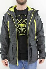 New ETNIES Mens Reservations Jacket L Black Large Polyester/Spandex GD1