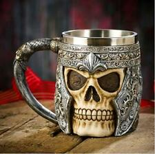 Striking Skull Warrior Tankard Viking Beer Mug Gothic Helmet Drinkware Vessel
