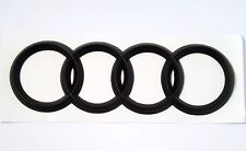 Audi Matte BLACK Rear Emblem Decal Logo Trunk Hatch Rings