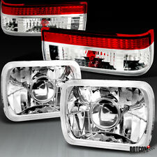 1983-1987 Toyota Corolla AE86 Projector Headlights W/ Red Clear Tail Light