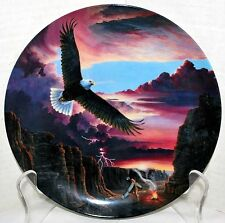 """""""Eagle Dance"""" Plate 1 in the Vision Quest Collection by The Crestley Collection"""