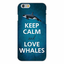 Keep Calm and Love Whales Killer Orca FITS iPhone 6+ Snap On Case Cover New
