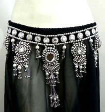 Belly Dance Kuchi Tribal Ethnic Belt Chain Hip Skirt Scarf Jewelry Sari Gypsy NW