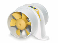 "MARINE 12V 4"" IN-LINE BLOWER FOR BOAT, CARAVAN, RV 220 CFM - Yellow Tail/SHURFLO"