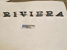 1968 1969 RIVIERA HOOD NOSE LETTERS EMBLEMS NEW PAIR 68 69  ***U.S.A MADE***