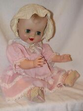 "18"" Vintage Vinyl Molded Hair Baby Doll No Markings"