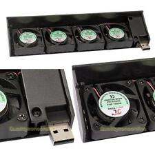 New USB 4 Quad 40mm Fan Fans Cooling Cooler For Sony Playstation 3 PS3 Black