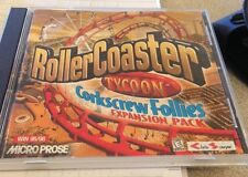 RollerCoaster Tycoon 1 Corkscrew Follies PC CD amusement park sim game add-on!