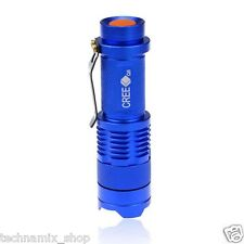 UltraFire 7W 300LM Q5 LED Mini Flashlight Camping Small Torch AA Batteries Blue