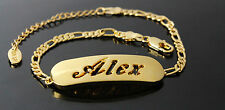 ALEX - Bracelet With Name - 18ct Yellow Gold Plated - Gifts For Her - Fashion