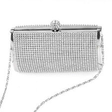 Sparkling Women Ladies Diamante Rhinestone Clutch Bag Box Evening Party Handbag