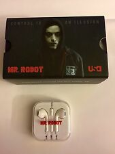 Mr. Robot Promo EarPods and VR Cardboard SDCC Comic Con Earbuds Headphones USA